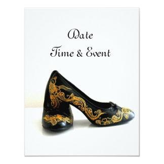 Henna Gold Mehndi Shoes Card