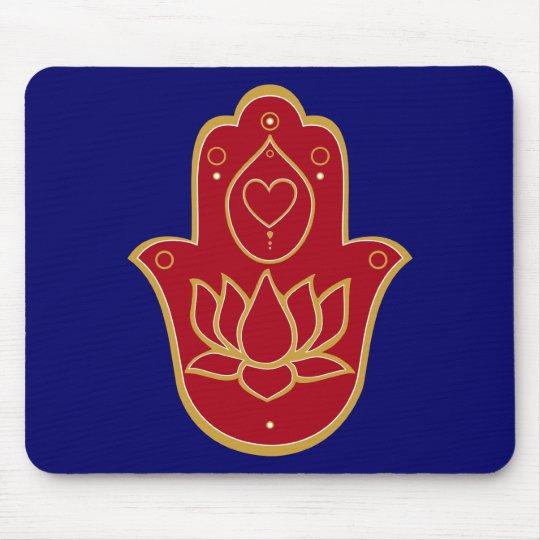 Henna Hamsa Lotus Mouse Pad