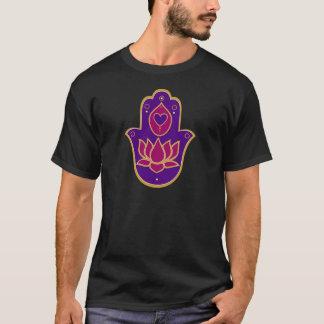 Henna Hamsa Lotus Pink T-Shirt