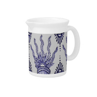 Henna Hand (Blue) Pitcher