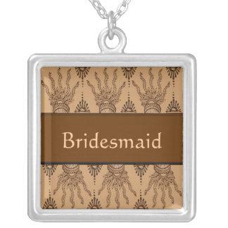 Henna Hand (Brown) (Wedding) Necklaces