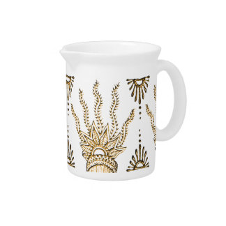 Henna Hand (Golden) Pitcher