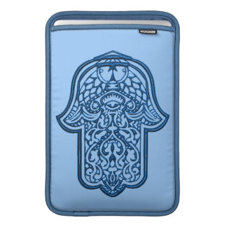 Henna Hand of Hamsa (Blue) MacBook Air Sleeve