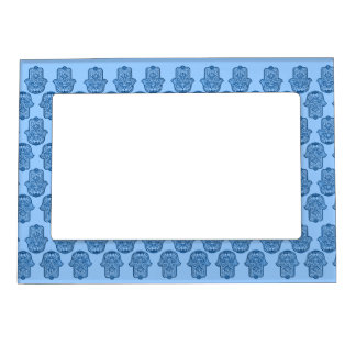 Henna Hand of Hamsa (Blue) Magnetic Photo Frame