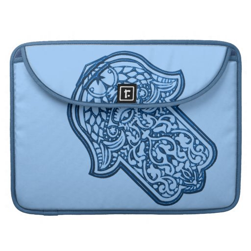 Henna Hand of Hamsa (Blue) Sleeves For MacBook Pro