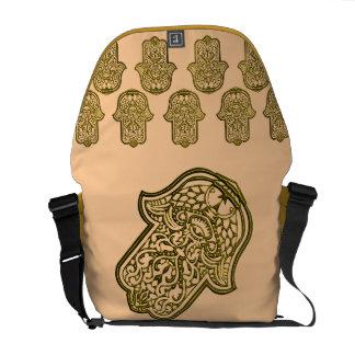 Henna Hand of Hamsa (Golden) Courier Bag