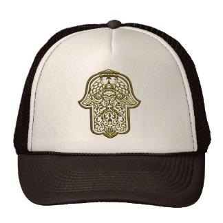 Henna Hand of Hamsa Golden Hat