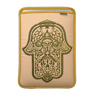 Henna Hand of Hamsa (Golden) MacBook Air Sleeve
