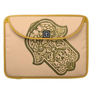 Henna Hand of Hamsa (Golden) MacBook Pro Sleeve