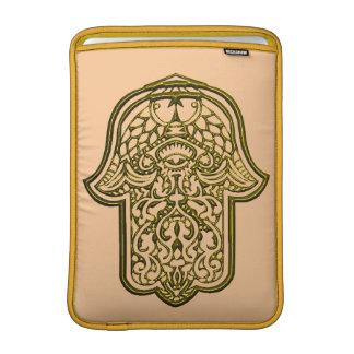 Henna Hand of Hamsa (Golden) MacBook Sleeve