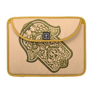 Henna Hand of Hamsa (Golden) Sleeve For MacBooks