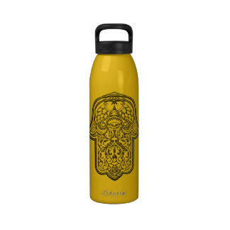 Henna Hand of Hamsa (Golden) Drinking Bottles