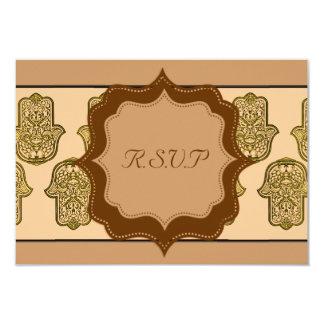 Henna Hand of Hamsa (Golden) (Wedding) Card