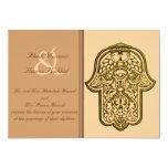 Henna Hand of Hamsa (Golden) (Wedding) Cards