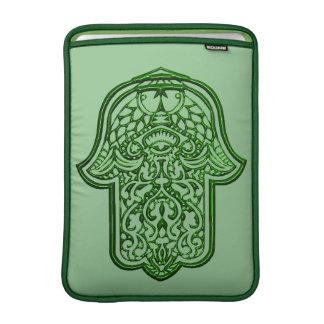 Henna Hand of Hamsa (Green) MacBook Air Sleeve