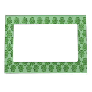 Henna Hand of Hamsa (Green) Magnetic Photo Frame