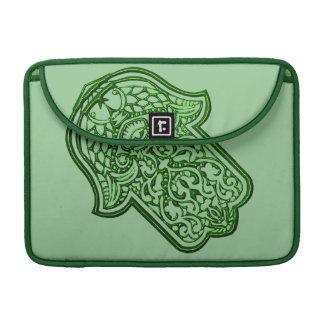Henna Hand of Hamsa (Green) Sleeve For MacBooks