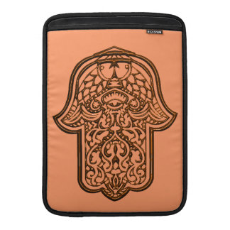 Henna Hand of Hamsa (Orange) Sleeve For MacBook Air