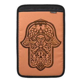 Henna Hand of Hamsa (Orange) MacBook Air Sleeve