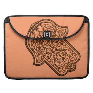 Henna Hand of Hamsa (Orange) Sleeves For MacBooks