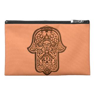 Henna Hand of Hamsa (Orange) Travel Accessories Bags