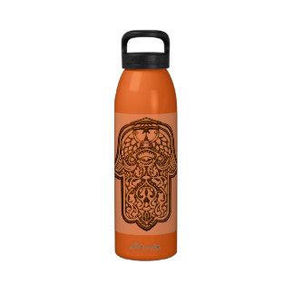 Henna Hand of Hamsa (Orange) Drinking Bottles