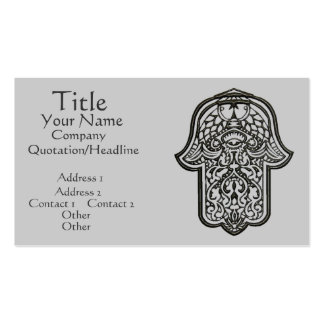 Henna Hand of Hamsa (Original) Double-Sided Standard Business Cards (Pack Of 100)