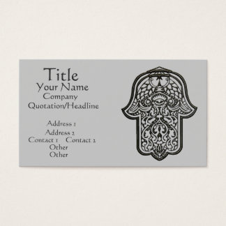 Henna Hand of Hamsa (Original) Business Card