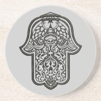 Henna Hand of Hamsa (Original) Drink Coaster