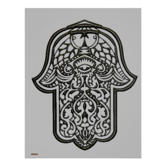 Henna Hand of Hamsa (Original) Poster