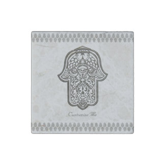 Henna Hand of Hamsa (Original) Stone Magnet