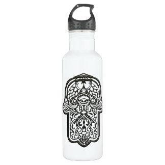 Henna Hand of Hamsa (Original) Water Bottle