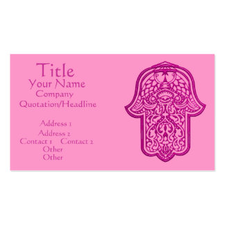 Henna Hand of Hamsa (Pink) Double-Sided Standard Business Cards (Pack Of 100)
