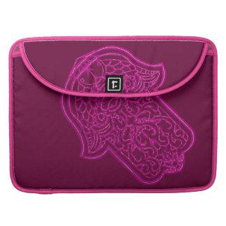 Henna Hand of Hamsa (Pink) MacBook Pro Sleeve
