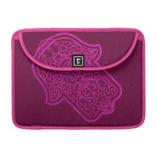 Henna Hand of Hamsa (Pink) Sleeves For MacBooks