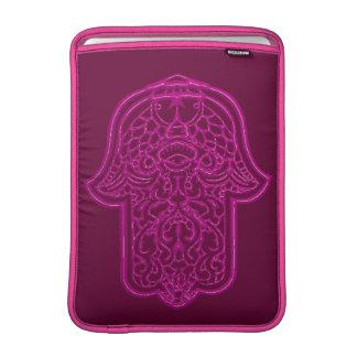 Henna Hand of Hamsa (Pink) Sleeve For MacBook Air