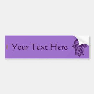 Henna Hand of Hamsa (Purple) Bumper Sticker