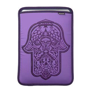 Henna Hand of Hamsa (Purple) MacBook Air Sleeves