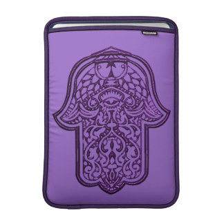 Henna Hand of Hamsa (Purple) MacBook Air Sleeve