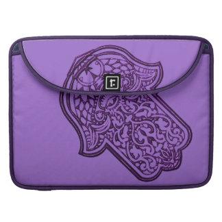 Henna Hand of Hamsa (Purple) Sleeves For MacBook Pro