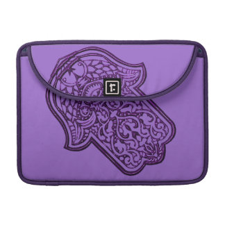 Henna Hand of Hamsa (Purple) Sleeve For MacBook Pro