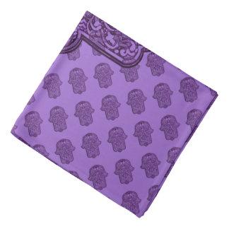 Henna Hand of Hamsa (Purple) Bandana