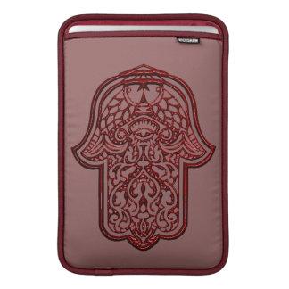 Henna Hand of Hamsa (Red) MacBook Sleeve