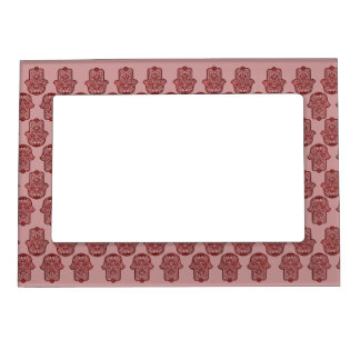 Henna Hand of Hamsa (Red) Magnetic Photo Frame
