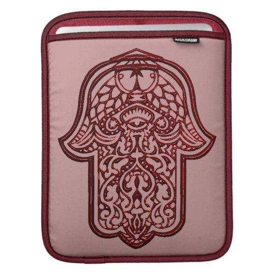 Henna Hand of Hamsa (Red) Sleeve For iPads