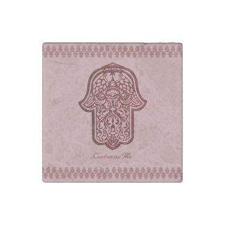 Henna Hand of Hamsa (Red) Stone Magnet