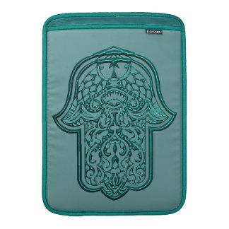 Henna Hand of Hamsa (Teal) MacBook Air Sleeve