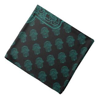 Henna Hand of Hamsa (Teal) Kerchiefs