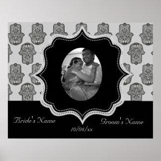 Henna Hand of Hamsa (Wedding) Poster