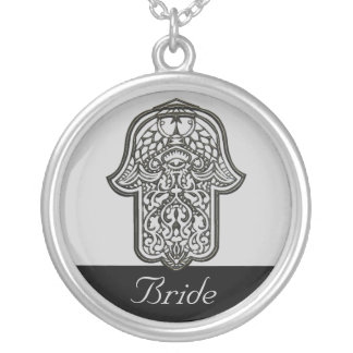 Henna Hand of Hamsa (Wedding) Silver Plated Necklace
